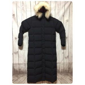 LL Bean Ultra Warm Coat Long M Navy Puffer Jacket